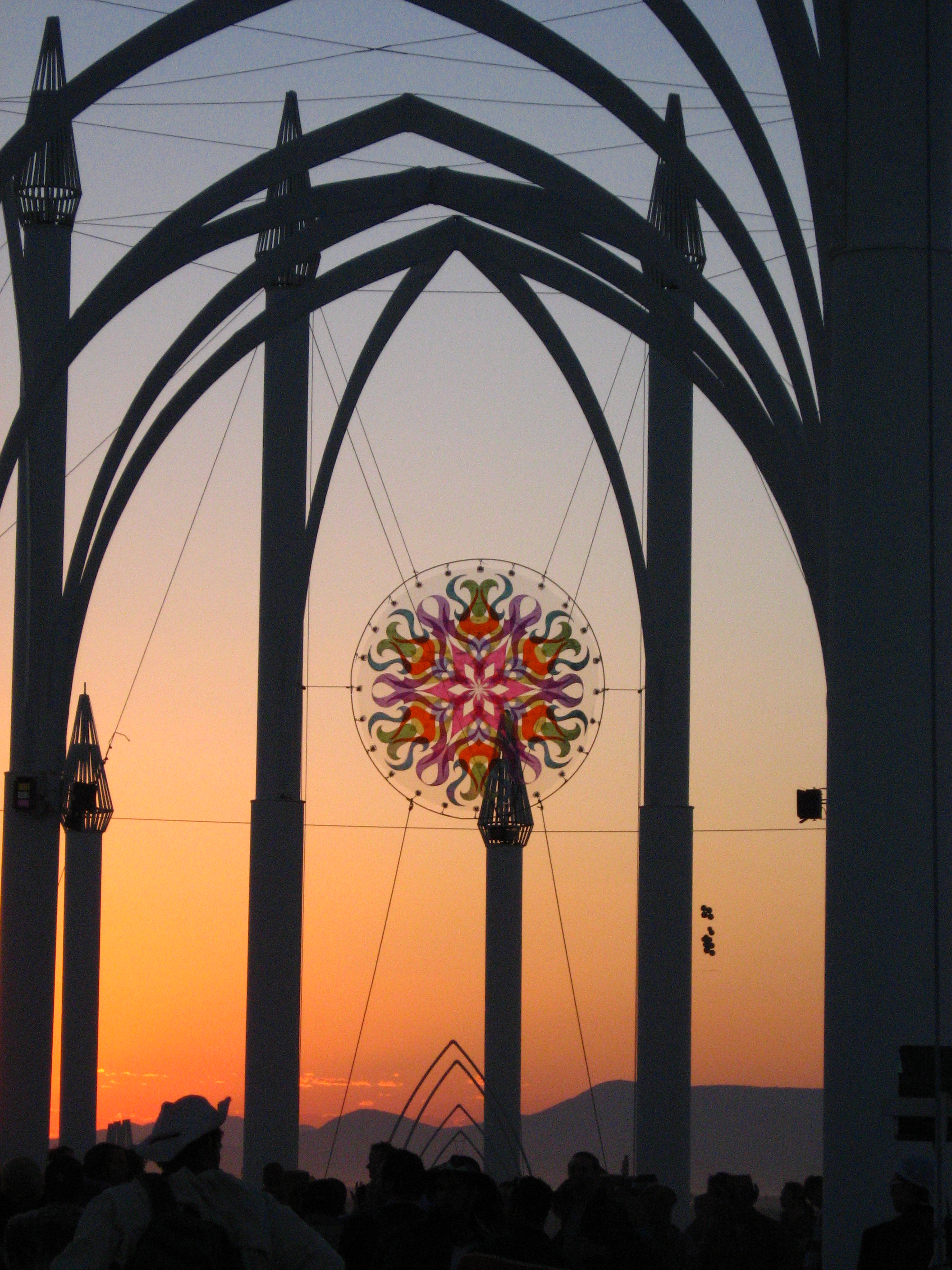 Temple at Burning Man, Rosette by Vibrata Chromadoris
