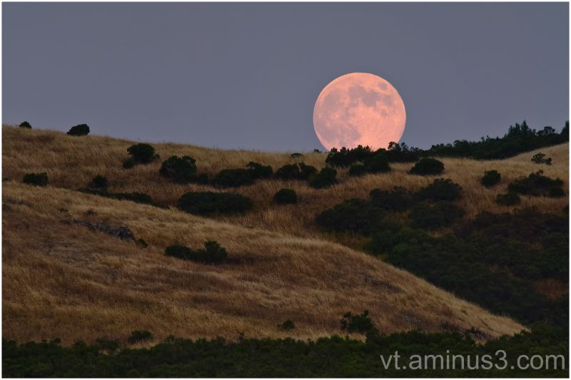 Full Moon Santa Cruz mountains